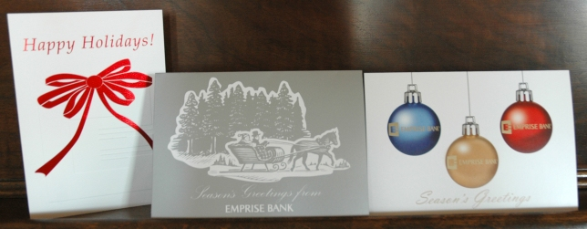 2011 - 12 Emprise Bank Holiday Cards
