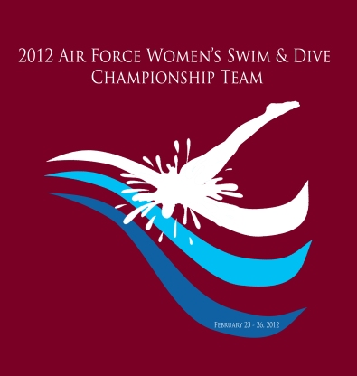 2012 US Air Force Academy Woman's Swim and Dive Conference Shirt Design
