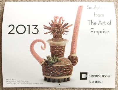 2013 Art of Emprise Calendar - Cover