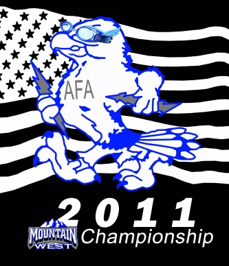 2011 US Air Force Academy Woman's Swim and Dive Conference Shirt