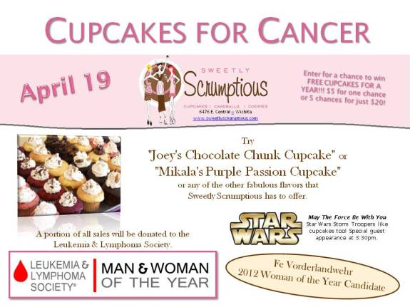 2013 Cupcakes for Cancer Flyer - LLS Woman of the Year