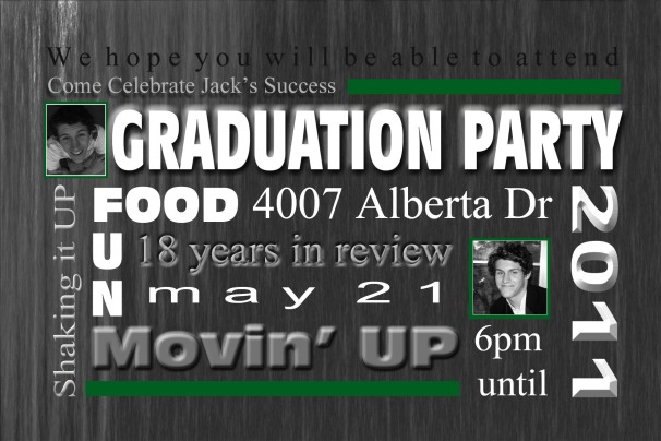 2011 Graduation Party Invitation
