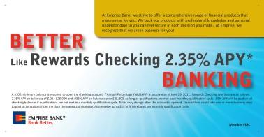 2011 Emrise Bank Postcard - side 2