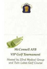 2005 McConnell AFB VIP Golf Tournament Invitaion - Outside