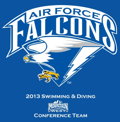 2013 US Air Force Academy Woman's Swim and Dive Conference Shirt Design