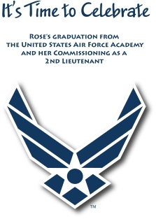 2013 - US Air Force Academy Graduation Invitation