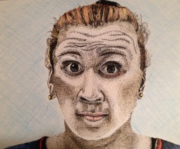Rosalita Mon Ami - 2012 Sharpie and Colored Pencil