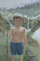 Hintersee Lake, Mittersil, Austria - 2002 Watercolor