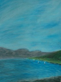 Firth of Fith, Helensburgh, Scottland - 2004 - Oil Pastel