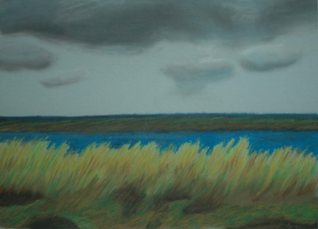 Wells-next-the-sea, England - 2004 Oil Pastel