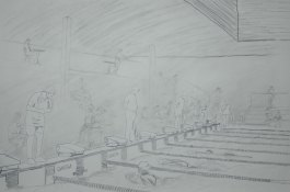 The Swimmer's Lane - 2002 Pencil