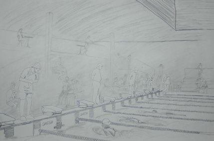 The Swimmer's Lane - 2002 Pencil