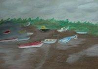 Wells-next-the-sea, North Sea, England - 2003 Oil Pastel