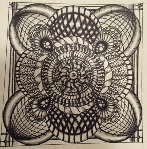 My 1st planned zentangle