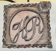 1 year Anniversary card - based on wedding logo 2015