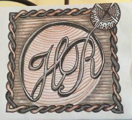 1 year Anniversary card - based on wedding logo 2015