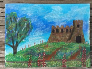 2nd Coronado Castle drawing - done at home