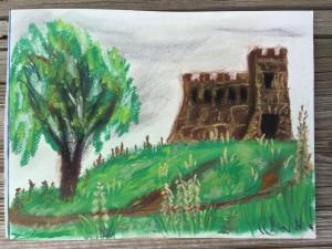 1st Coronado Castle drawing - Plein Air
