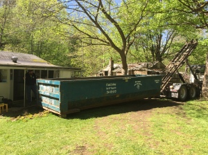 20 yard dumpster that we were able to fill in two days