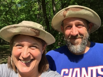 Jim and Stacy after 23 days in the woods!