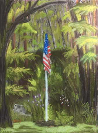2016 Memorial Day, 9 x 12 soft chalk pastel onStrathmore Pastel Paper 2016