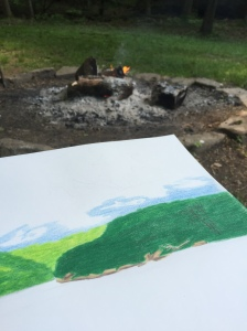 Painting by the fire