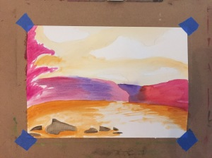 Watercolor Underpainting
