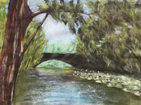 9 x 12 pastel on Strathmore pastel paper, June 2016