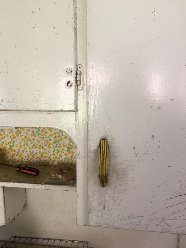 original hutch cabinet closeup