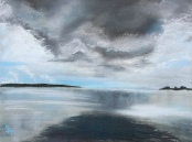 Pomatuming Lake, 9x12, August 2016