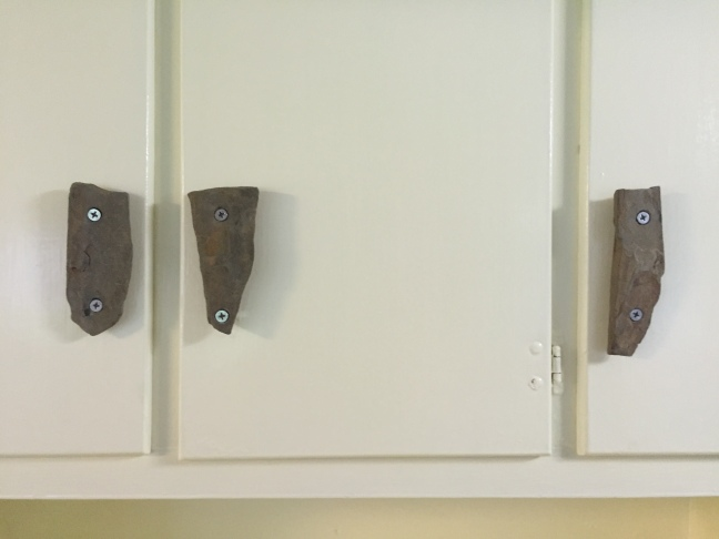 close up of cabinet handles