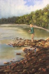 The Fisherman, 12x18, October 2016