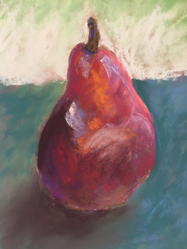 Pretty Pear, 5 x 7, pastel painting, September 2017