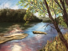Allegheny River #6, 16 x 12, pastel painting, August 2017
