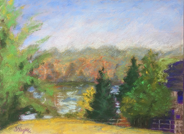 Connecticut Countryside, 9 x 12, pastel painting, September 2017