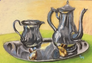 Tea and Mice, 5x7, January 2017