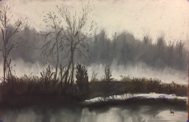 Montezuma Nation Wildlife Refuge, New York, 12 x 18, pastel