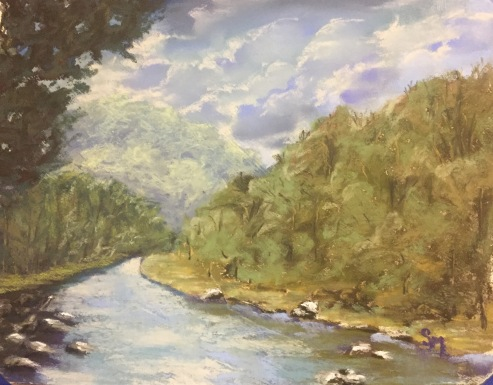 Allegheny River - 9x11 pastel , January 2017