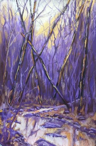 Shull Run in Purple, 12 x18, March 2017