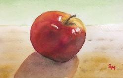 Apple, 4 x 6, Watercolor, April 2017
