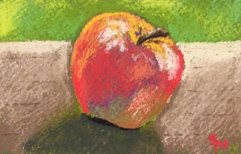 Apple, 4 x 6, Soft Chalk Pastel, April 2017