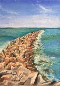 Chesapeake Bay, 9 x 12, Soft Chalk Pastel, April 2017