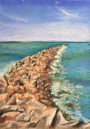 Chesapeake Bay, 9 x 12, Soft Chalk Pastel, April 2017