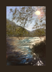 Allegheny River #5, 6 x 9, Pastel Painting, August 2017