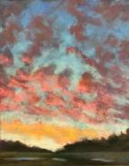 'Winter Sunset' 9x12 January 2018