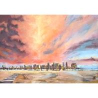 'San Diego Sunset' 27 x 19, soft pastel on pastemat paper, April 2019