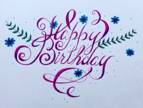 Happy Birthday Grandma Kate, 4x6, sharpie