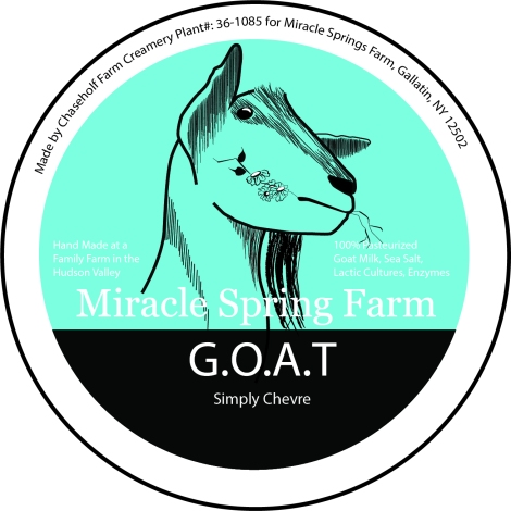 georgette, in progress logo and label design for Miracle Springs Farms