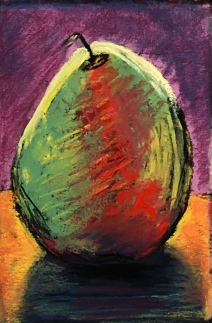 Pear 4, 4x6, pastel, March 2019