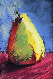 Pear 2, 4x6, pastel March 2019